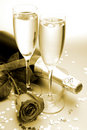 Champagne And Rose Stock Photo - 13608390