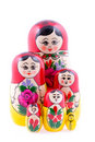 Group Of Russian Nesting Dolls Royalty Free Stock Images - 13608769