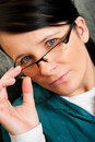 Woman In Spectacles Royalty Free Stock Photo - 13612255