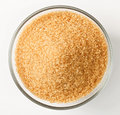 Cane Sugar In A Glass Bowl Royalty Free Stock Photos - 13624438