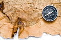 Old Maps And Compass On A White Background Stock Images - 13628024