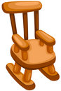 Wooden Rocking Chair Stock Photos - 13640523