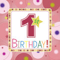 First Birthday Card Stock Images - 13653634