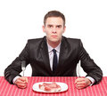A Man And An Uncooked Beef Stock Photography - 13673592