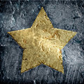 Gold Metallic Grunge Star Royalty Free Stock Photo - 13680895