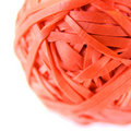Red Rubber Band Ball Stock Photography - 13687452