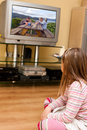 Girl Watching TV Royalty Free Stock Images - 13688839
