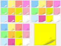 Colorful Paper Pads Stickers Stock Photo - 13692350