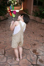 Boy & Windmill Stock Images - 1378594