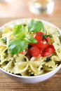 Bowl Of Farfalle Pasta Royalty Free Stock Image - 13701936