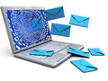 Laptop With Emails Royalty Free Stock Photography - 13716307