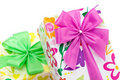 Wrapped Presents With Bows Royalty Free Stock Photos - 13727218