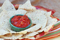Corn Chips And Salsa Royalty Free Stock Photography - 13733527