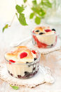 Fruit Pudding(clafoutis) With Berry Stock Photo - 13743380