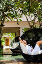 Lounging Outdoors Royalty Free Stock Photography - 13744717