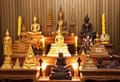 Thai Monk Statue Rack Stock Image - 13748921