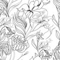 Monochrome Seamless Pattern Stock Photography - 13750292