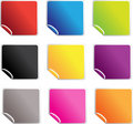 Square Glossy Stickers Royalty Free Stock Images - 13760539