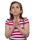Young Girl Looking Up And Praying Stock Photography - 13761182