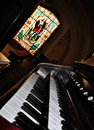An Old Pipe Organ Keyboard Stock Photo - 13761740