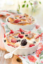 Fruit Pudding(clafoutis) With Berry Stock Photo - 13763280