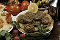 Mediterranean Meal With Falafels Stock Images - 13764104