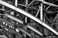Steel Supports Under The Brooklyn Bridge Royalty Free Stock Photo - 13770265