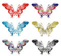 Set Of 6 Patterned Butterflies Vector Stock Photo - 13771140