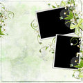 Green Spring Frame With Cherry Flowers Stock Photos - 13776223