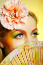 Concept Summer Fashion Woman With Creative Make-up Royalty Free Stock Images - 13789839