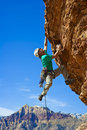 Male Rock Climber Reaching For The Summit. Stock Photo - 13790130