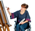 Girl On Wheelchair Stock Image - 13799881