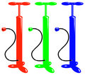 Vector Bicycle Red Green Blue Air Pump Stock Images - 1387674