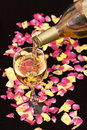 White Wine Pouring Down From A Bottle Royalty Free Stock Image - 13803796