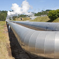 Geothermal Power Plant Pipeline Royalty Free Stock Photography - 13824677