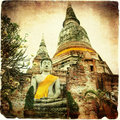 Ancient Temple In Ayutthaya Royalty Free Stock Photography - 13829747