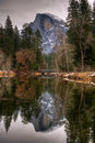 Reflecting On Half Dome Royalty Free Stock Photography - 13836437