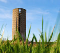 Lone Silo In The Background Stock Images - 13841344