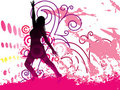 Grunge Background With Dancing Girl On Posters Stock Images - 13844214