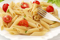 Pasta With Cherry Tomatoes Royalty Free Stock Image - 13847376
