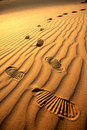 Footprints In The Sand Royalty Free Stock Images - 13848039