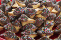 Chocolate Covered Fortune Cookies Upclose Stock Photo - 13848760