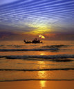 Fishing At Sunset In India Royalty Free Stock Photos - 13851658
