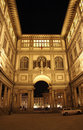 Florence, Gallery Of The Ufizzi At Night Stock Images - 13852904