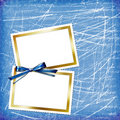 Card For Design With Sheets And Bow Royalty Free Stock Image - 13856346
