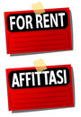 Rent Signs Stock Photo - 13873040