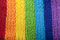 Bright Rainbow Knitted Scarf Royalty Free Stock Photography - 13879457