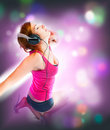 Sexual Woman In Headphones Royalty Free Stock Photos - 13884328
