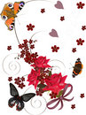 Red Roses And Butterflies Royalty Free Stock Image - 13886926