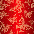 Seamless Ornamental Wallpaper With Butterfly Royalty Free Stock Photography - 13894917